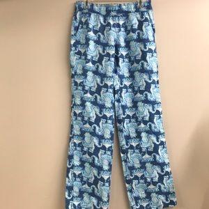 Lilly Pulitzer Florita linen Elephant Pants Small
